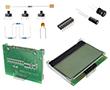 Zestaw elementów z wyśw LCD zamontowanym na płytce ARDUINO-DEM, 10 projektów UNO: ARDUINO DEM-KIT1