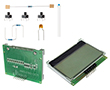 Zestaw elementów z wyśw LCD zamontowanym na płytce ARDUINO-DEM, 10 projektów UNO: ARDUINO DEM-KIT2