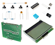 Zestaw elementów z wyśw LCD zamontowanym na płytce ARDUINO-DEM, 15 projektów UNO: ARDUINO DEM-KIT3