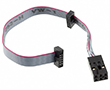 Atmel-ICE target cable with both 10-pin 50mil and 6-pin 100mil connector: ATATMEL-ICE-CABLE