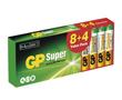 Bateria alkaliczna AAA/LR03/R3 1.5V ø10.5x44.5mm GP Super: BATAAA-24A-PB8+4