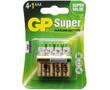 Bateria alkaliczna AAA/LR03/R3 1.5V ø10.5x44.5 GP Super: BATAAA-24A-U5-gp