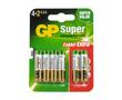 Bateria alkaliczna AAA/LR03/R3 1.5V ø10.5x44.5mm GP Super: BATAAA-24A-U6-gp