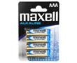 Bateria alkaliczna AAA/LR3 1.5V 10.5x44.5mm 1200mAh Maxell blister 4szt.: BATAAA-max B4