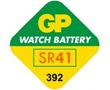 Bateria srebrowa SR41/SR41W 1.55V 42mAh ø7.9x3.6mm GP: BATSR41-392-gp