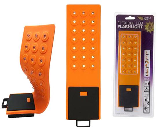 Elastyczna lampa LED, 21xSMD, 100lm, zasilanie: 3xAAA, kolor: pomarańczowy: G LED.FLEX21