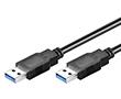 Kabel USB 3.0 A męski A męski L=1.8m, czarny, potrójnie ekranowany, goobay: K USB18amam 3.0