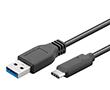 Kabel zasilający USB 3.0 A męski C męski L=2m czarny, goobay: K USB20amcm 3.0