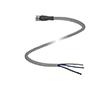 Gniazdo kablowe M8, kabel PUR, Liczba styków: 3, przewód: PUR: K V3-GM-2M-PUR