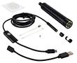 regulacja światła; 3x adapter-magnes,haczyk,lusterko; Windows/Android;: KAM insp.USB.5m.VGA