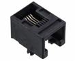 gniazdo telefoniczne 6P4C, niskoprofilowe, kątowe do druku: M095501-2641