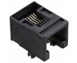 gniazdo telefoniczne 6P6C, niskoprofilowe, kątowe do druku: M095501-2661