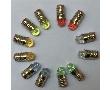 Żarówka LED z gwintem E5; ø4,8mm; zielona (525nm); jasność: 3000mcd: OL.E5-Z-3.0