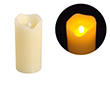 Świeca LED 5x10cm; kolor świecy: biały, woskowy: OL.SWIECA-5/10
