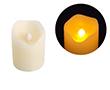 Świeca LED 5x6cm; kolor świecy: biały, woskowy: OL.SWIECA-5/6
