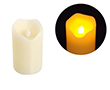 Świeca LED 5x8cm; kolor świecy: biały, woskowy: OL.SWIECA-5/8