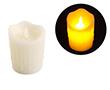 Świeca LED 7.5x10cm; kolor świecy: biały, z imitacją lejącego wosku: OL.SWIECA-7.5/10
