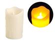 Świeca LED 7.5x12.5cm; kolor świecy: biały, z imitacją lejącego wosku: OL.SWIECA-7.5/12.5