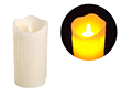 Świeca LED 7.5x15cm; kolor świecy: biały, z imitacją lejącego wosku: OL.SWIECA-7.5/15