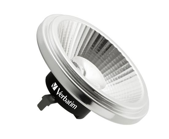 Żarówka LED typu AR111 10.5W (odp. 85W), b.ciepła (2700K), 680lm, 12°, 12V AC/DC: OLBC.A10.5W-G53V1