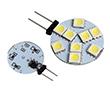 Żarówka LED 1.5W (odpowiednik 15W), biała zimna (6000K), 150lm, 120°, 12V AC/DC: OLBZ.R1.5W-G4K