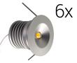 Zestaw 6x LED typu mini downlight, 18W, biała ciepła (3000K), 990lm, 120°, 230V,: OLDL.BC.03W30-ZEd