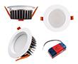 Oprawa LED typu downlight 12W, biała ciepła (3000K), 1044lm, 85°, 200÷240V: OLDL.BC.12W110-QS