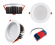 Oprawa LED typu downlight 15W, biała ciepła (3000K), 1335lm, 85°, 200÷240V: OLDL.BC.15W145-QS