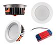 Oprawa LED typu downlight 20W, biała ciepła (3000K), 1780lm, 85°, 200÷240V: OLDL.BC.20W190-QS