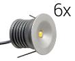 Zestaw 6x LED typu mini downlight, 18W, biała zimna (6000K), 990lm, 120°, 230V,: OLDL.BZ.03W30-ZEd