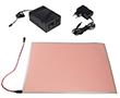 Folia elektroluminescencyjna; biała; 12V z zasilaczem,: OLFB.A4-12V