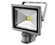 Naświetlacz LED COB 20W z czujnikiem ruchu PIR, biała zimna, 1800lm, 120°, 230V: OLFL.BZ.20Wks-ms