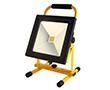 Przenośny naświetlacz LED COB 30W z akumul. (4h), b.zimna, 1900lm, 120°, 8.4V: OLFL.BZ.30Wcn_P