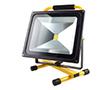 Przenośny naświetlacz LED COB 50W z akumul. (5.5h), b. zimna, 2500lm, 120°,14.8V: OLFL.BZ.50Wdpya