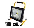Przenośny naświetlacz LED COB 50W z akumul. (4h), b. zimna, 4500lm, 120°: OLFL.BZ.50Wkpya