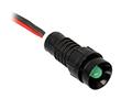 Kontrolka LED zielona; wklęsła; średnica otw. Montażowego: 11mm; 220V DC: OLG-D5-220V-DC