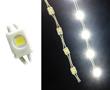 Moduł LED wtryskowy, 0.3W, biała zimna (9000÷11000K), 22÷28lm, 120°, 12VDC: OLLBZ.0.3W-MINI-Y