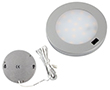 Oczko LED IR Srebrne, 3.0W, biała ciepła, 300lm, 120°, 12VDC, Wymiary: d80x8mm: OLM.BC.R3.0W-d80x8_IR