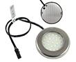 Oczko LED Srebrne 2.4W, biała zimna, 250lm, 50°, 12VDC, Wymiary: d50x7,5: OLM.BZ.R2.4W-d50x7.5