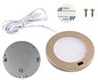 Oczko LED IR Złote 3.0W, biała zimna, 300lm, 120°, 12VDC, Wymiary: d80x8mm: OLM.BZ.R3.0W-d80x8_IR_2
