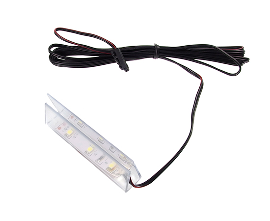 Klips LED plastik 0.24W, 12VDC, wymiary: 69*20*11mm, transparentny: OLM.KL.BZ-pla