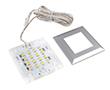 Lampa Squere 2, 1.2W, 80lm, biała ciepła, 12VDC, wymiary: 53*53*7mm: OLM.LSQ.BC-1.2w