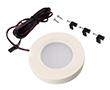 Oczko LED biały plastik, 1.8W, 122lm, biała ciepła, 12VDC, wymiary: Φ65*14mm: OLM.OCZ.BC-pla