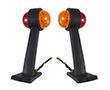 Komplet 2 lamp 2x3.5W, b. pomarańczowa+czerwona, 360°, 12-24V DC,: OLOBP.3.5W-IC_350