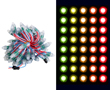 Pixele LED RGB, 5V DC, WS2811, okrągły, 20-22lm, 50 szt w wiązce: OLPX.RGB.5-50-R