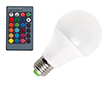 Żarówka LED dekoracyjna, RGB, ok 600-700lm, 120°, 85-265V AC CRI>80: OLRGB.B10.0W-E27R