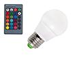 Żarówka LED 3.0W (odpowiednik 30W), RGB, 180-210lm, 120°, 85-265V AC CRI>80: OLRGB.B3.0W-E27R