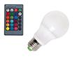 Żarówka LED 5.0W (odpowiednik 60W), RGB,300-350lm, 120°, 85-265V AC CRI>80: OLRGB.B5.0W-E27R