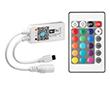 Sterownik WiFi do taśm LED RGBW-R; z pilotem IR;  Iwy: 4A/ kanał, Nap: 5 -24V DC: OLT.CTRL-RGBW-WiFi-mini-R