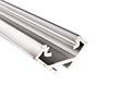 Profil aluminiowy do taśm LED NAR; aluminium anodowane; kolor srebrny: OLT.PR-NAR2.0-sa